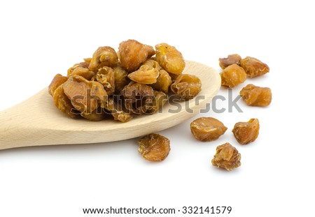 dried longan fruit isolated on white background