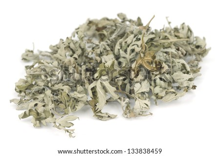 Dried Mugwort Leaves; Non sharpened file - stock photo