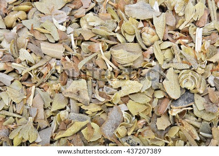 Dried oregano leaves background