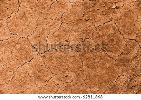 Dried out brown soil - stock photo