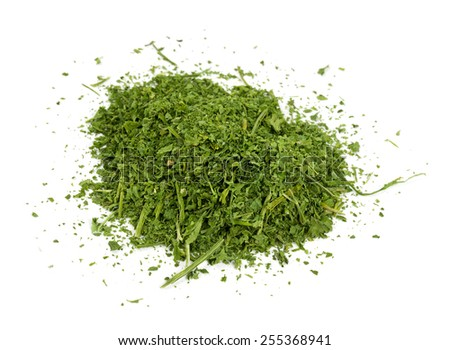 dried parsley isolated on white - stock photo