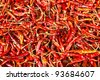 Dried red hot chili pepper - stock photo