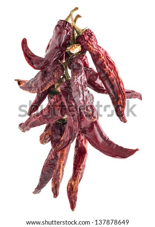 dried red pepper - stock photo