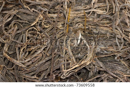 dried seaweed as background - stock photo