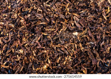 Dried smoking tobacco leaves texture background - stock photo