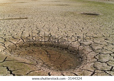 dried soil - stock photo