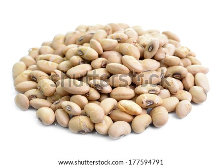 Dried soybeans isolate on white