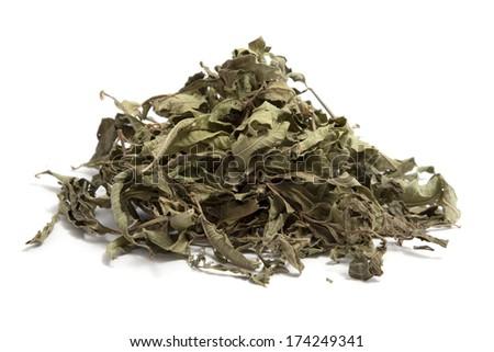 dried verbena on white background - stock photo