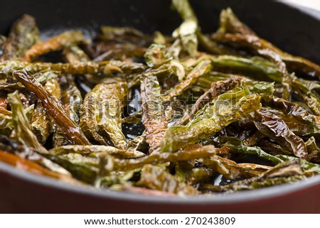 Dried Whole Red Chillies - stock photo