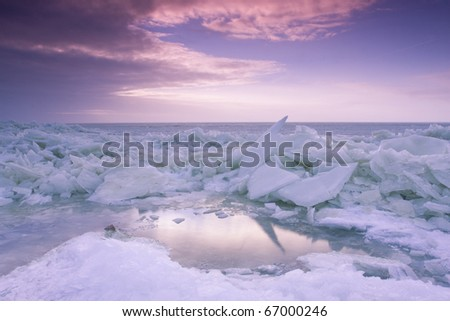 Drift ice - stock photo