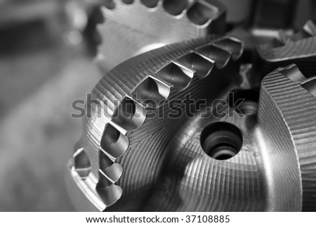 Drill Bit on a gray background. - stock photo