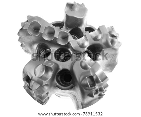 Drill Bit on a white background. - stock photo