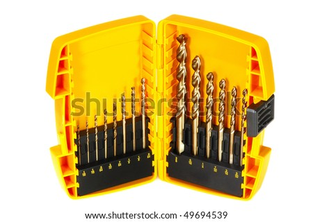Drill set - stock photo