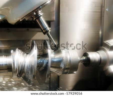 Drilling machine workpiece - stock photo
