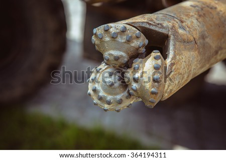 drilling of the wells - stock photo