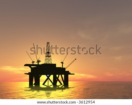 Drilling Platform in sea (see more in my portfolio)