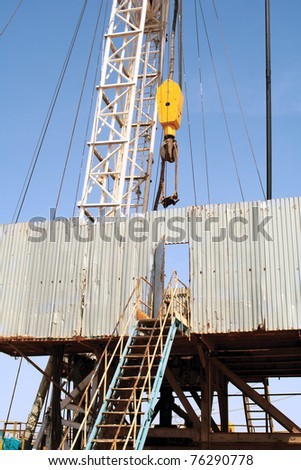 Drilling rig. - stock photo