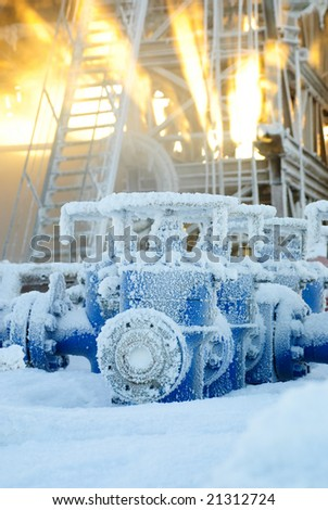 Drilling rig equipment. Preventor. - stock photo