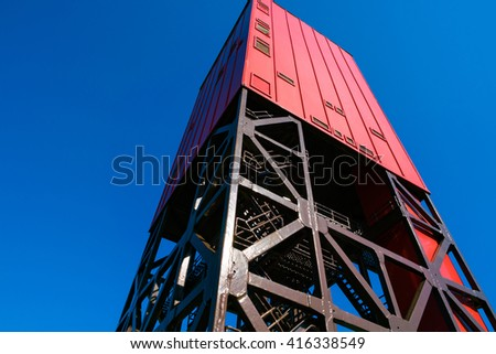 Drilling rig for geological prospecting - stock photo