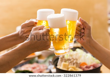 Drink a beer - stock photo