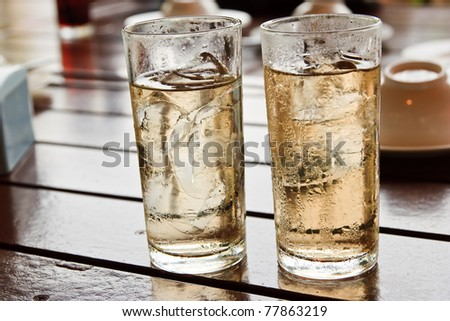 Drink alcohol mixed with ice. - stock photo
