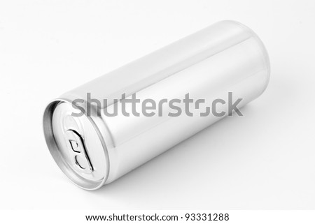 Drink can from blank aluminum - stock photo