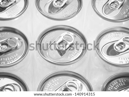 Drink can on white background - stock photo