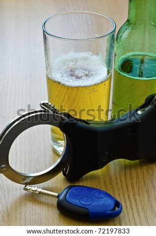 Drink driving, don't do it - stock photo