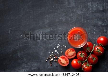 Drink fresh Tomato Juice - stock photo
