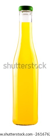 drink in a glass bottle isolated on white background
