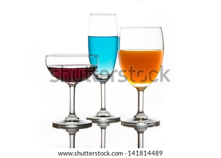 Drink in three colors.