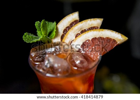 Drink made with grapefruit - stock photo