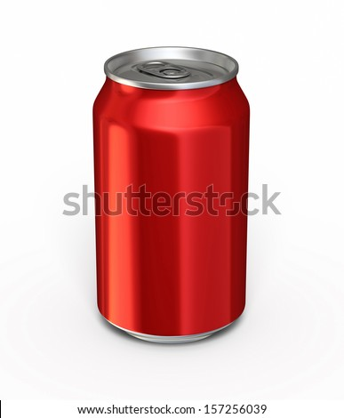 Drink Red Can  (isolated on white and clipping path)