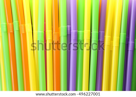 Drink tube of Colorful in abstract background for the design idea backdrop.