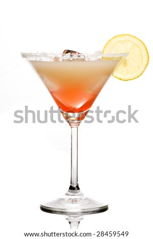 Drink with juice and grenadine - stock photo