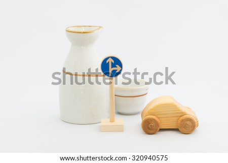 Drinking driving - stock photo