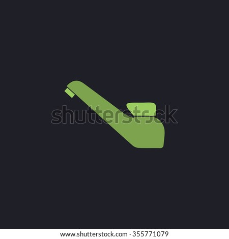 Drinking faucet. Color flat icon on black background - stock photo