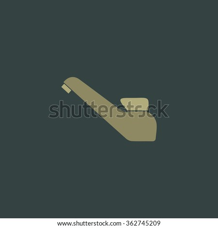 Drinking faucet. Simple flat color icon on colorful background - stock photo