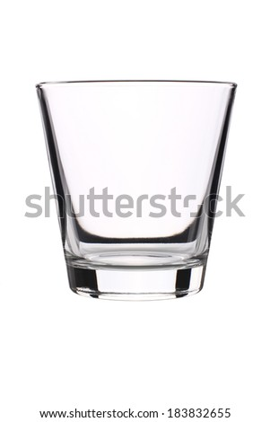 Drinking glass, Elegant glass isolated on a white background - stock photo