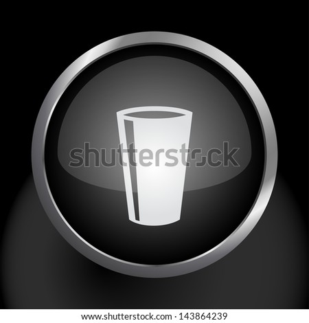Drinking Glass Icon Symbol - Raster Version, Vector Also Available. - stock photo