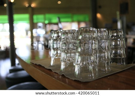 drinking glass in pub