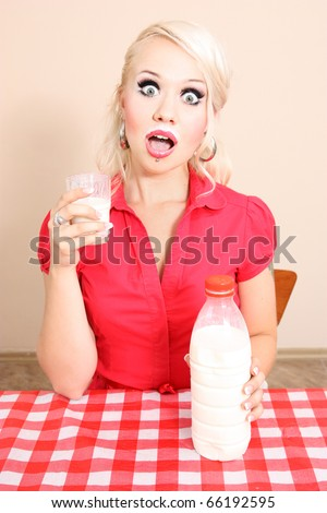 Drinking milk, similar available in my portfolio - stock photo