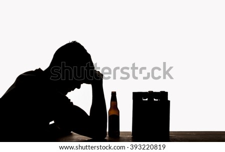 Drinking Silhouette  - stock photo