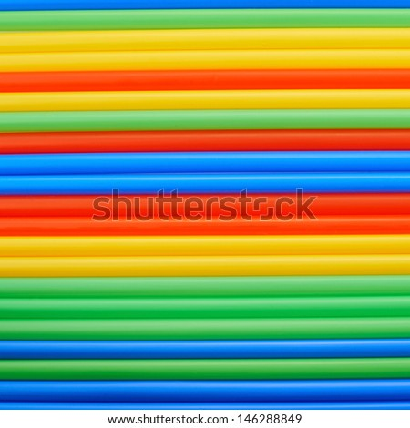 Drinking straw colorful abstract background - stock photo