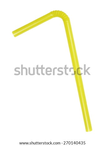 drinking straw isolated on white background (with clipping path) - stock photo