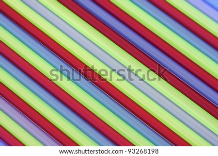 Drinking straws with diagonal abstract pattern - stock photo