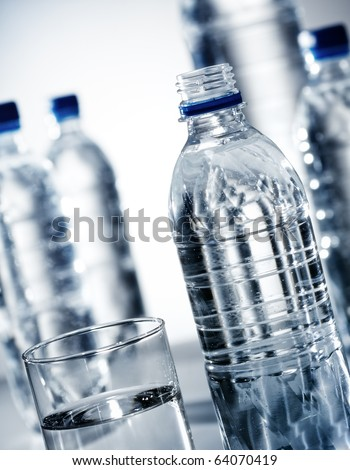 Drinking water - stock photo