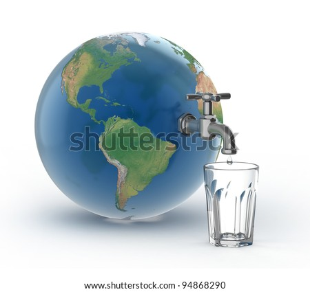 drinking water crisis - eco concept - stock photo