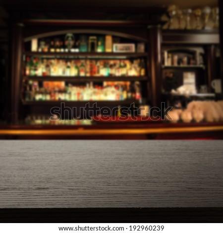 drinks and dark desk  - stock photo