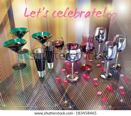 Drinks celebration. - stock photo
